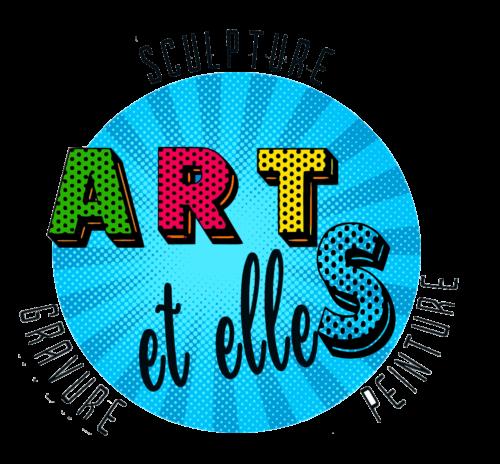Logo bleu version pop art
